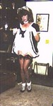 sissy maid lifts skirt
